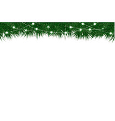 christmas and new year background with fir vector image