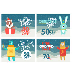 christmas sale up to 40 off vector image