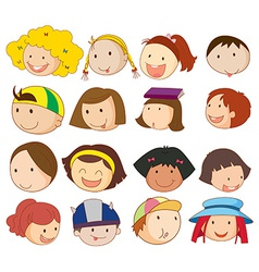 Different faces vector image