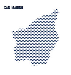 dotted map of san marino isolated on white vector image