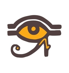 Egypt god ra symbol hand drawn set vector