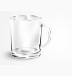 Empty mug with handle vector
