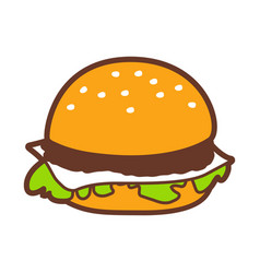 fast food hamburger vector image