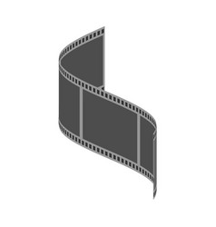film icon solid pictogram vector image
