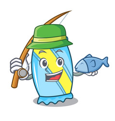 Fishing candy mascot cartoon style vector