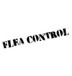 Flea Control rubber stamp vector image