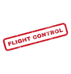Flight Control Rubber Stamp vector image