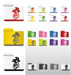 flower folders vector image
