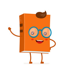 funny happy cute smiling hipster book vector image