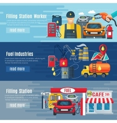 Gas Station Banners Set vector image