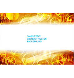 Gold gears abstract technology background with vector