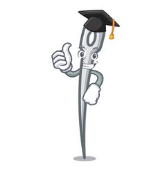 Graduation needle character cartoon style vector
