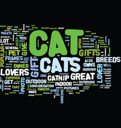 great gifts for cat lovers text background word vector image