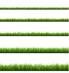 Green grass big set vector