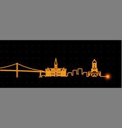 halifax light streak skyline profile vector image
