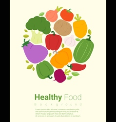 Healthy food background with vegetable 2 vector