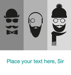 hipster background template card banner vector image