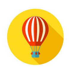 Hot air balloon icon summer vacation vector