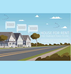 house for rent find your best place to live vector image