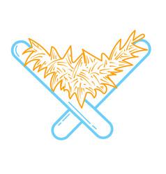 icon christian symbol manger vector image