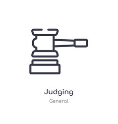 Judging outline icon isolated line from general vector