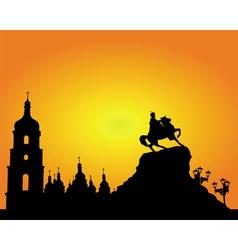 kiev sophia square silhouette vector image