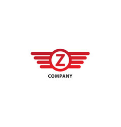 Letter z initial abjad logo design template vector