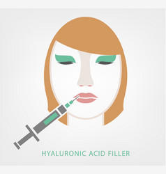 Lips injections image vector