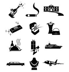 Luxury wealth icons vector