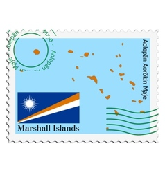 Mail to-from Marshal Islands vector