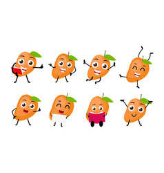mango fruits cartoon character vector image