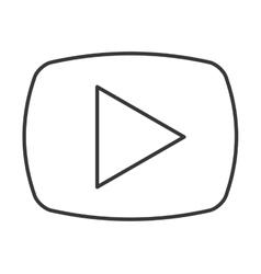 Media player button play icon vector