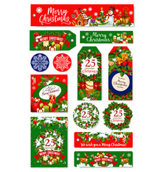 Merry christmas holiday wish greeting cards vector