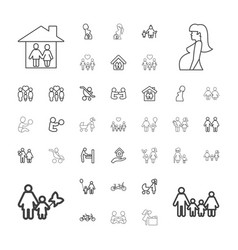 Mother icons vector