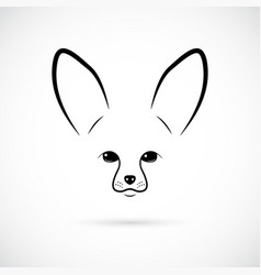 muzzle of cute fennec on white background line vector image