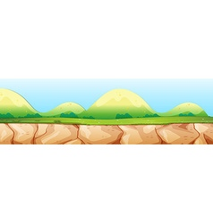 Nature scene with cliff and mountain vector