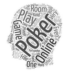 online poker text background wordcloud concept vector image