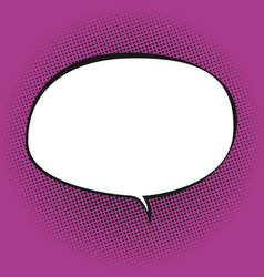 oval speech bubble on pink background vector image