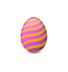 painted easter egg isolated on the white vector image vector image