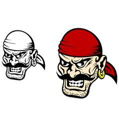 pirate captain cartoon vector image