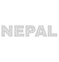polygonal mesh nepal text caption vector image