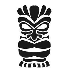 Polynesian wood idol icon simple style vector