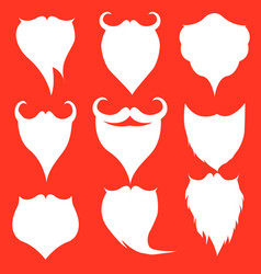 santa beard icon isolated on red background vector image
