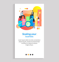Scaling your business businessman on infocharts vector