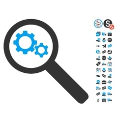 Search Gears Tool Icon With Free Bonus vector
