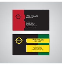 Set of two colored business cards - USA standard vector