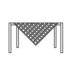 table with tablecloth vector image