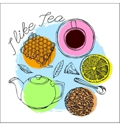Tea time concept vector image