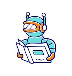 Text reading bot color icon screen reader vector