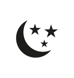 The moon and stars icon Night sleep symbol Flat vector image